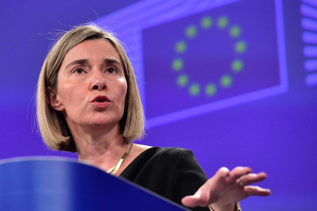 Federica Mogherini... (Photo Emmanuel Dunand, archives Agence France-Presse)