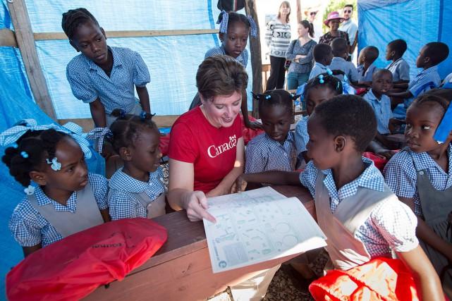 La ministre du Développement international, Marie-Claude Bibeau s'était... (Paul Chiasson, archives PC)