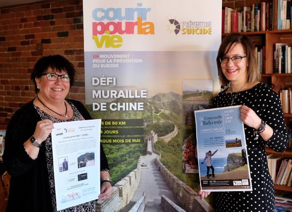 Lise Beaudoin et Julie Perreault se préparent pour... (photo Alain Dion)