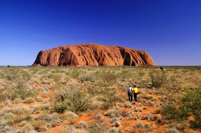 Ce glissement de terrain, qui a été découvert... (Photo Australian Tourist Commission)