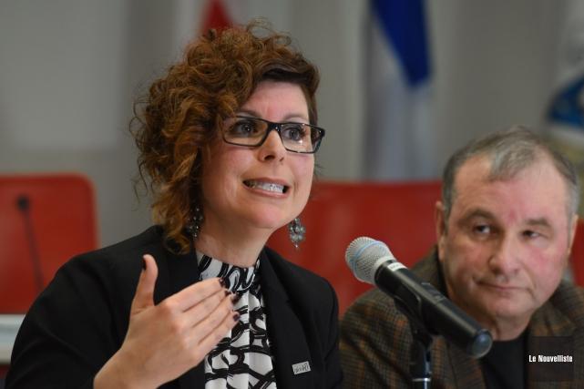 La mairesse de Nicolet Geneviève Dubois.... (Photo: François Gervais Le Nouvelliste)