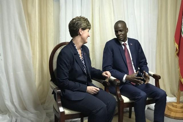 Outre d'assister à l'assermentation du président haïtien Jovenel... (Fournie)