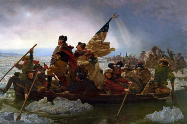 Washington Crossing the Delaware, d'Emmanuel Gottlieb Leutze... (IMAGE FOURNIE PAR LE METROPOLITAN MUSEUM OF ART DE NEW YORK)