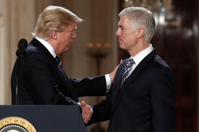 Donald Trump a nommé le 31 janvier Neil... (PHOTO AP)