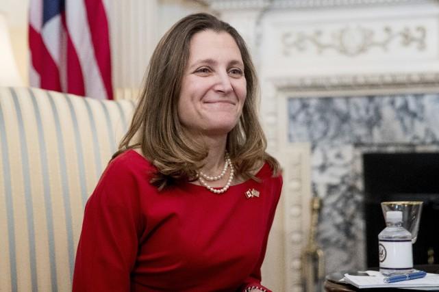 La ministre des Affaires étrangères, Chrystia Freeland... (Associated Press)