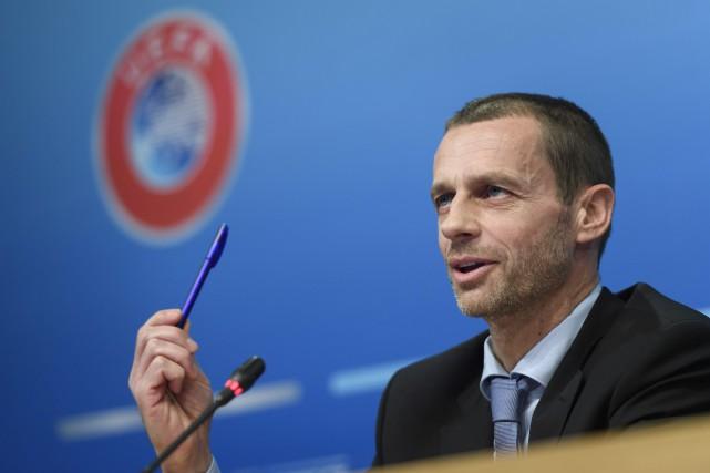 Le président de l'UEFA, Aleksander Ceferin.... (Photo Martial Trezzini, AP)