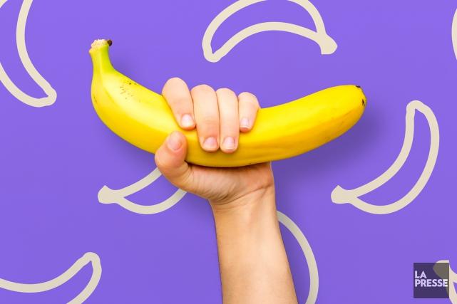 Banale, la banane? Elle ne coûte presque rien et on la consomme chaque jour... (Photomontage La Presse)