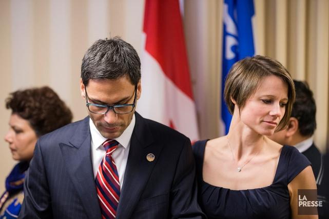 Gerry Sklavounos était accompagné de sa femme lors... (La Presse, Édouard Plante-Fréchette)