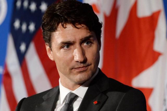Le premier ministre canadien Justin Trudeau... (La Presse Canadienne)