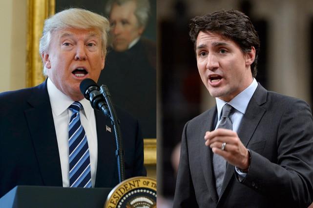 Lorsque Justin Trudeau rencontrera le président américain Donald... (Photos Reuters et PC)