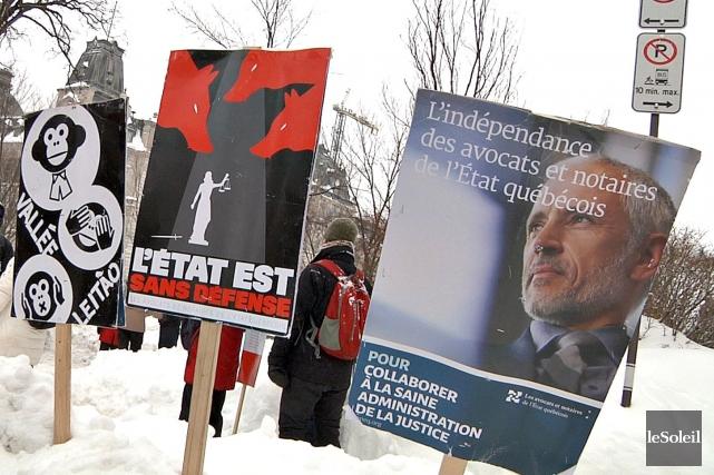 Furieux que les négociations piétinent, les juristes de l'État préparent une... (Photo Frédéric Matte, archives Le Soleil)