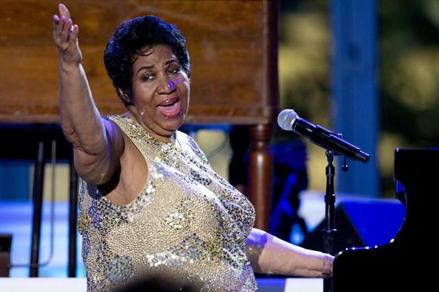 La légende du gospel Aretha Franklin, qui aura 75 ans le mois prochain, a... (PHOTO ARCHIVES AP)