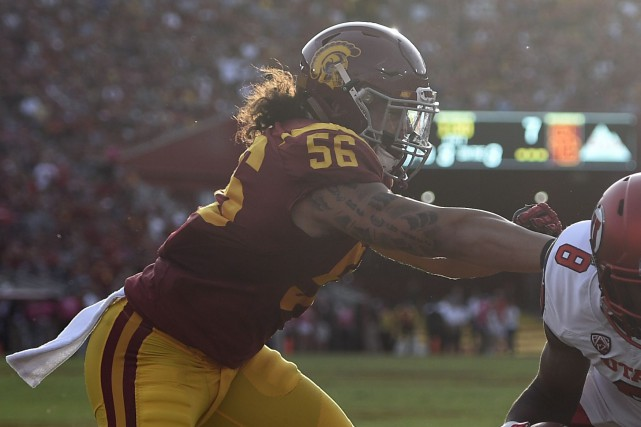Le secondeur Anthony Sarao avec les Trojans de... (Photo archives USA Today Sports)