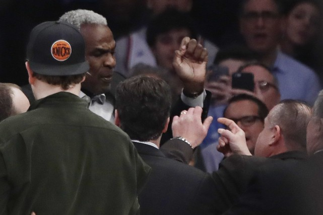 L'ancien joueur des Knicks de New York Charles... (Photo Frank Franklin II, AP)