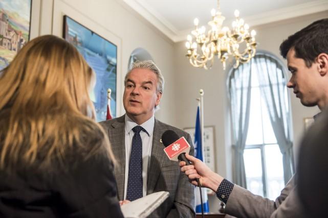 Le maire de Sherbrooke Bernard Sévigny a réagi... (Spectre Média, Jessica Garneau)