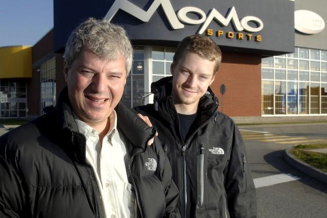 Les propriétaires de Momo Sports de Sherbrooke, Michel... (imacom: Jessica Garneau)