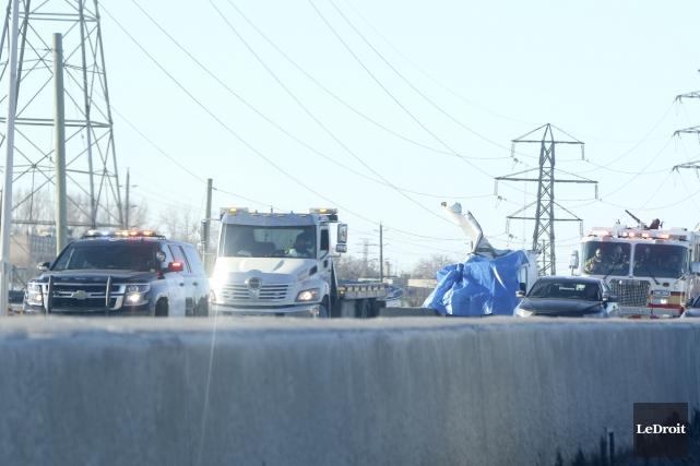 L'accident est survenu à la hauteur de la... (Patrick Woodbury, LeDroit)