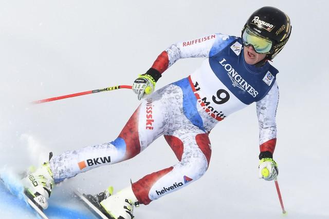 Lara Gut s'est blessée au genou gauche vendredi... (Photo Joe Klamar, AFP)