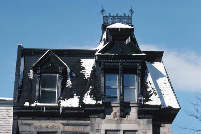 L'hiver, les toitures sont rarement entièrement recouvertes de... (PHOTO THINKSTOCK)