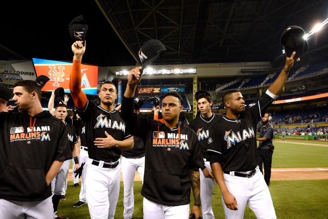 Les Marlins de Miami ont terminé derniers pour... (Photo Steve Mitchell, USA Today Sports)
