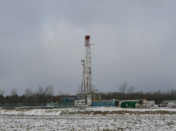 Les puits de gaz de schiste... (Questerre Energy)