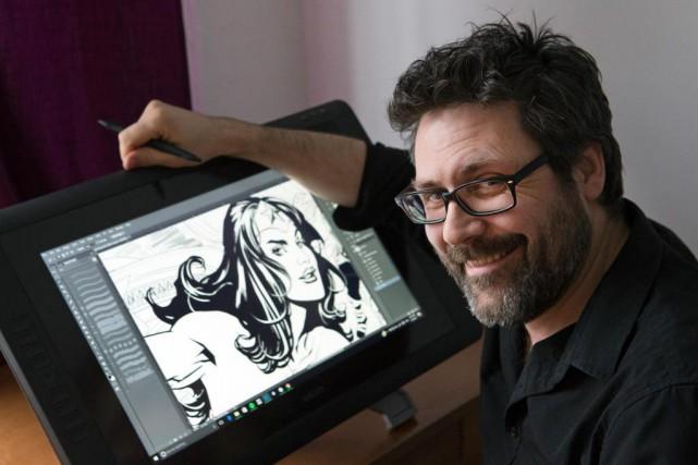 Yanick Paquette est l'un des raresillustrateurs québécois qui... (PHOTO ROBERT SKINNER, LA PRESSE)