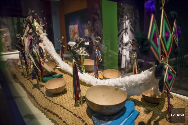 L'exposition Huicholes, un peuple qui marche vers la... (Simon Séguin-Bertrand, Le Droit)