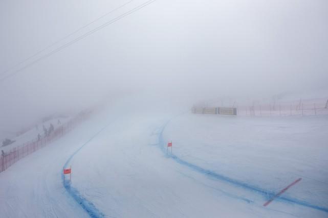 C'est surtout au milieu de la piste Corviglia,... (Photo Alexandra Wey, AP)
