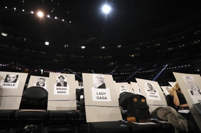 Adele, Lady Gaga, Bruno Mars et Chance the... (Photo Matt Sayles, AP)