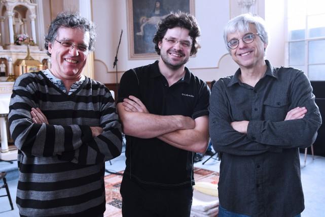 Yvon Dachille et Luc Beauchemin, de l'Ensemble Talisman,... (Le Progrès-Dimanche, Rocket Lavoie)