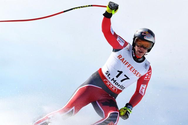 ErikGuay est passé à un cheveu de réaliser... (PHOTO JOE KLAMAR, AFP)