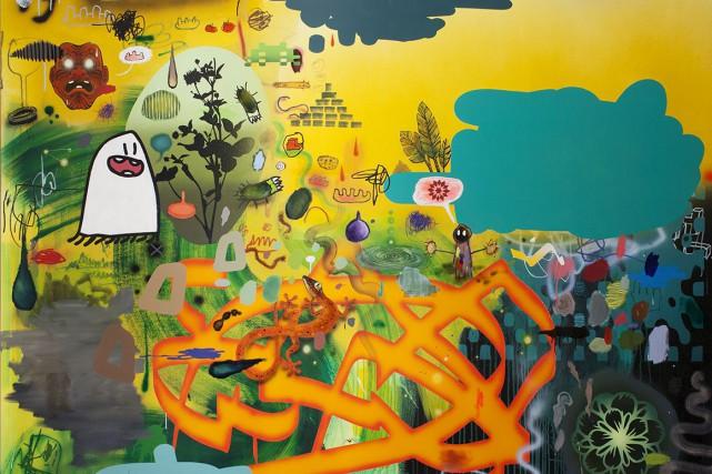 Boowaboowaboo de Dan brault, 2016-2017, acrylique et huile... (Fournie par la Galerie 3)