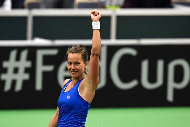 Barbora Strycova... (PHOTO MICHAL CIZEK, AFP)