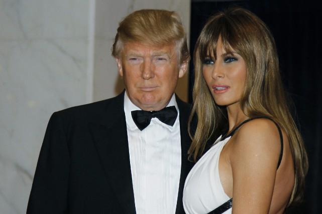 Donald Trump et sa femme Melania lors du... (Archives AP)