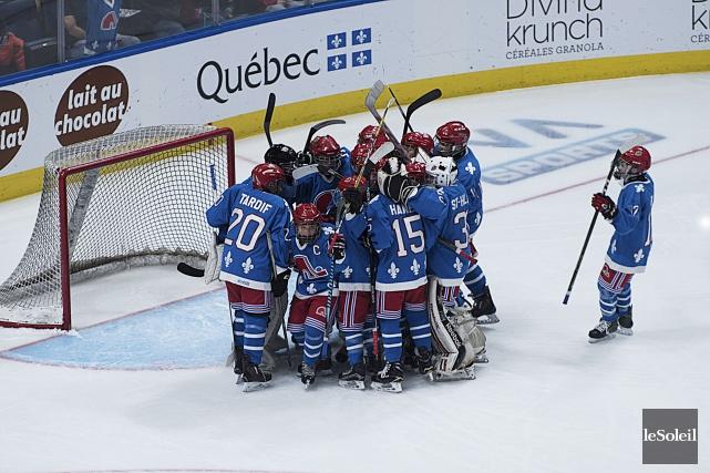 Les petits Nordiques de Québec ont marqué après... (Le Soleil, Alice Chiche)