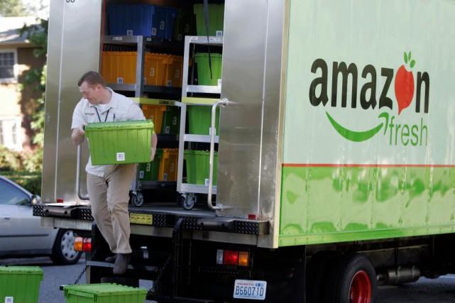 Aux États-Unis, plusieurs supermarchés offrent déjà la possibilité... (AP)