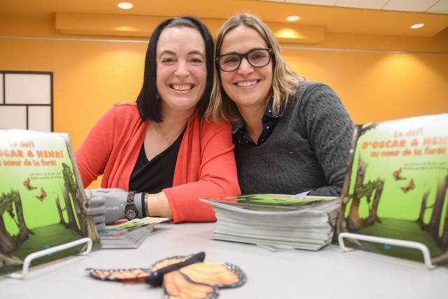 L'illustratrice Marie-Sol St-Onge et l'auteure Nicole Lebel ont... (Andréanne Lemire, Le Nouvelliste)