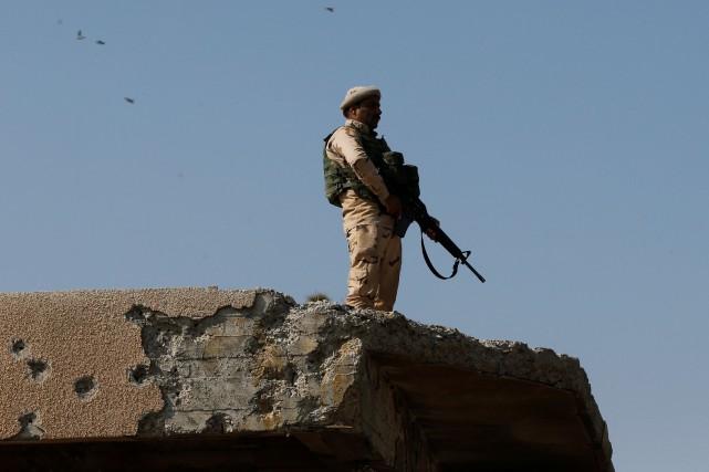 Un soldat irakien.... (Photo Muhammad Hamed, archives REUTERS)
