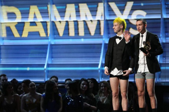 Twenty One Pilots a remporté le prix du meilleur duo... (PHOTO REUTERS)