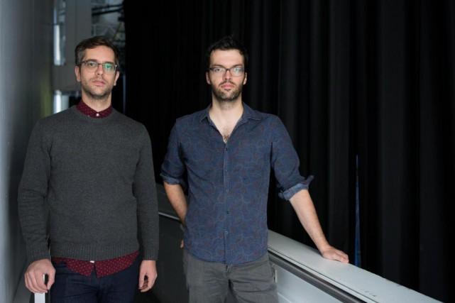 Les réalisateurs Simon Lavoie et Mathieu Denis (photographiés... (PHOTO EDOUARD PLANTE-FRÉCHETTE, ARCHIVES LA PRESSE)