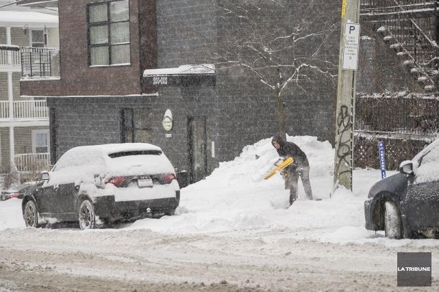 Le pire de la tempête a été évité en Estrie et au Centre-du-Québec dimanche et... (Archives La Tribune, Marie-Lou Béland)