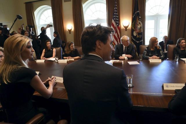 Lors de son passage à la Maison-Blanche, lundi,... (La Presse canadienne, Sean Kilpatrick)