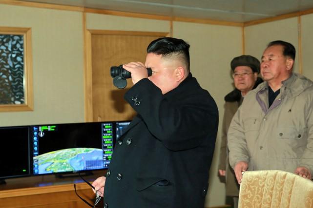 Le dirigeant nord-coréen Kim Jong-Un a «exprimé sa... (PHOTO AFP)
