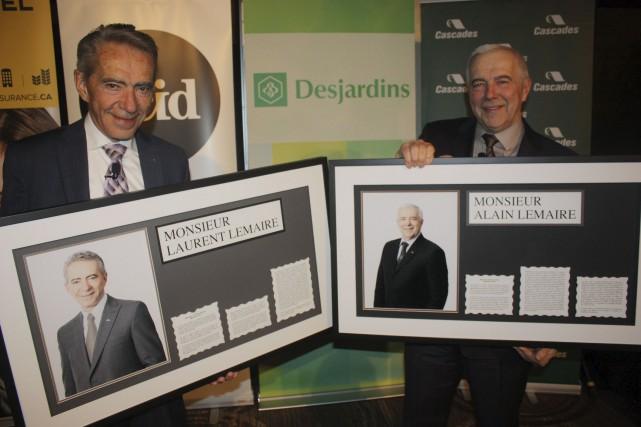 Laurent et Alain Lemaire ont été intronisés au... (La Tribune, Yanick Poisson)