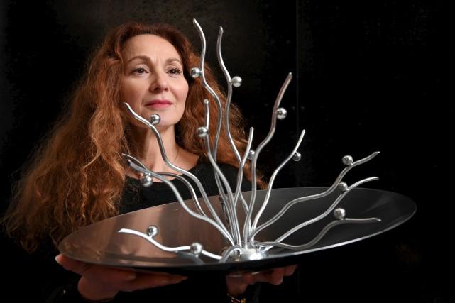 L'artiste françaiseAnilore Banon espère envoyer une sculpture sur... (AFP, Alain Jocard)