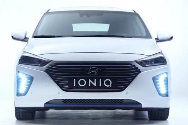 La Hyundai Ioniq électrique....