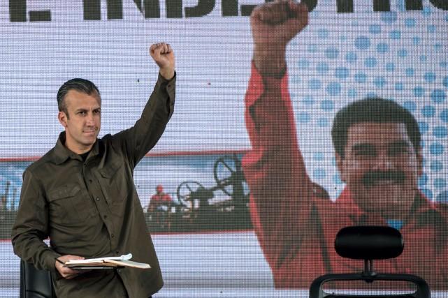 El Aissami, à gauche, l'un des dirigeants les... (PHOTO AFP)