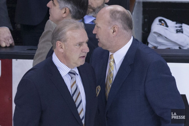 Michel Therrien et Claude Julien lors de la... (Photo André Pichette, archives La Presse)
