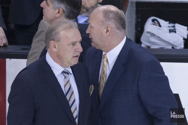 Michel Therrien et Claude Julien lors des séries... (Archives La Presse)