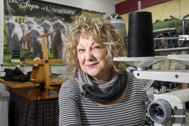 La propriétaire de L'Angélaine, Michèle Hamelin, est fière... (Sylvain Mayer, Le Nouvelliste)